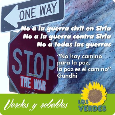Los Verdes piden al Gobierno de España una posición oficial y pública contraria a la intervención militar internacional en Siria