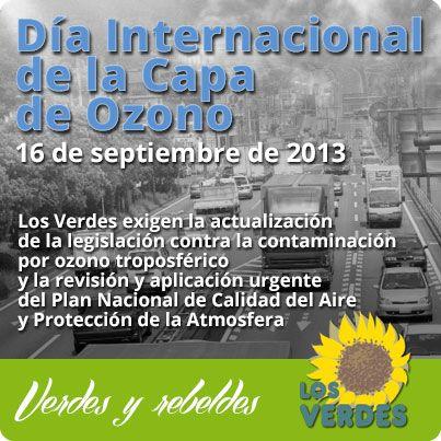 Día Internacional de la capa de ozono. 16 de septiembre de 2013