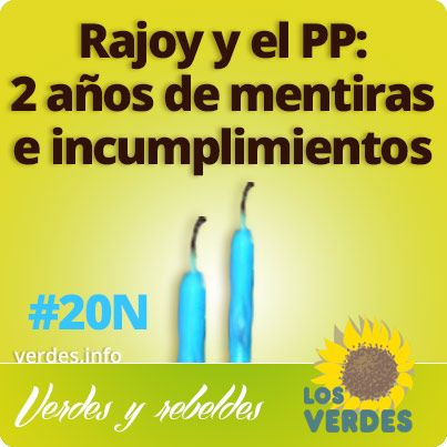 Dos años de mentiras e incumplimientos de Rajoy y del PP