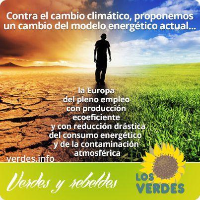 Los Verdes defenderán en la Unión Europea un nuevo modelo energético para crear empleo y luchar contra el cambio climático