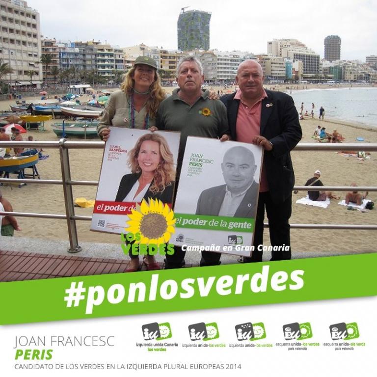 El candidato de Los Verdes en la coalición de la Izquierda Plural hace campaña en Canarias