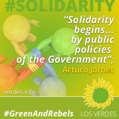 Solidarity begins... by public policies of the Government