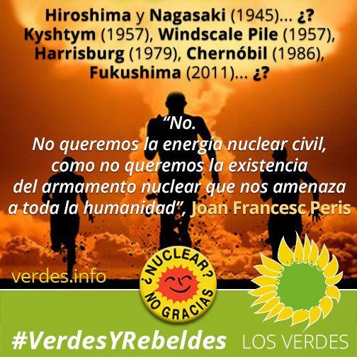 Porque no queremos la energía nuclear