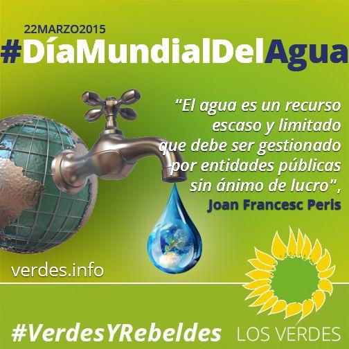 El agua es un bien público, escaso y limitado, que debe estar protegido del interés lucrativo del negocio privado