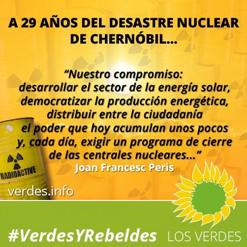 Aniversario de Chernóbil: Los Verdes a favor de la energía solar