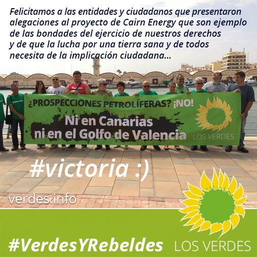 Los Verdes se congratulan de que, ante rechazo social y argumentos científicos, Cairn Energy desista de realizar prospecciones petrolíferas en Golfo de Valencia