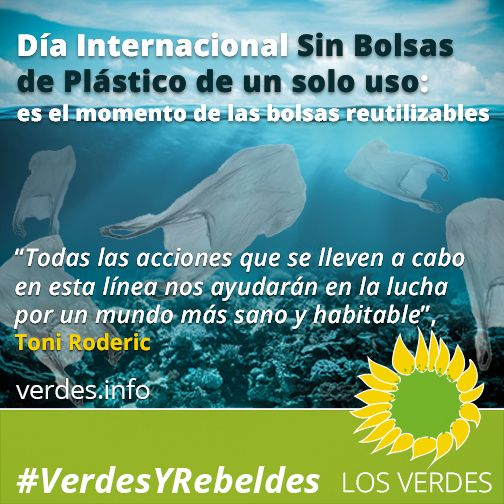 Día internacional libre de bolsas de plástico de un solo uso