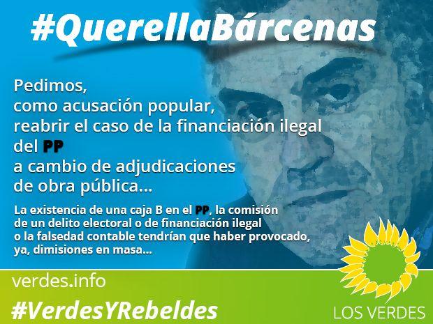 Querella Bárcenas: pedimos reabrir el caso de la financiación ilegal del PP