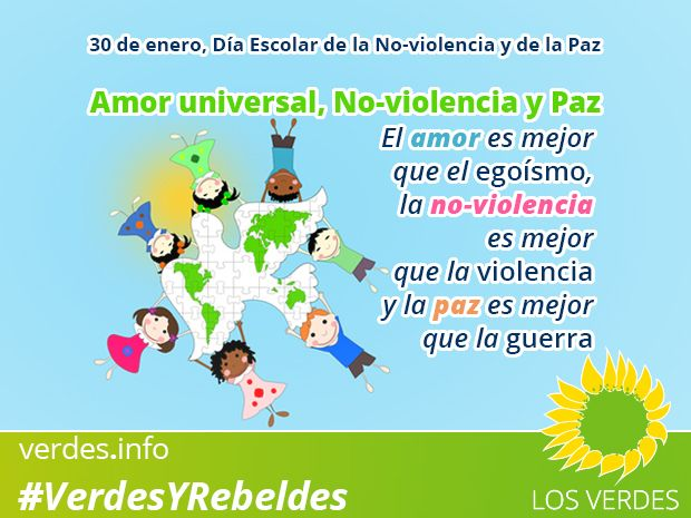 30 de enero, Día Escolar de la No-violencia y de la Paz