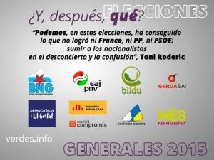 En las elecciones españolas, en clave española