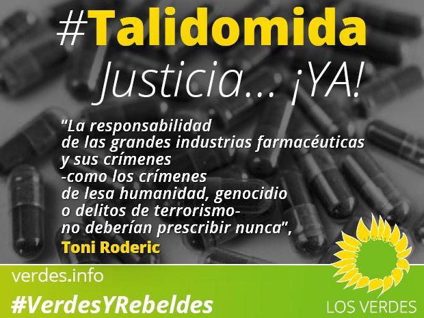 Si fracasa la vía judicial, Los Verdes exigen una solución política que acabe con la indefensión de las víctimas de la Talidomida