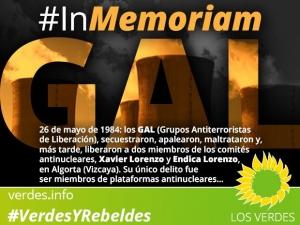Los GAL y sus víctimas: Xavier Lorenzo y Endica Lorenzo, miembros de los comités antinucleares. In Memoriam