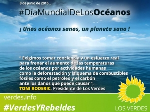 Día Mundial de los Océanos. Pongamos en marcha un movimiento mundial ciudadano a favor de los océanos