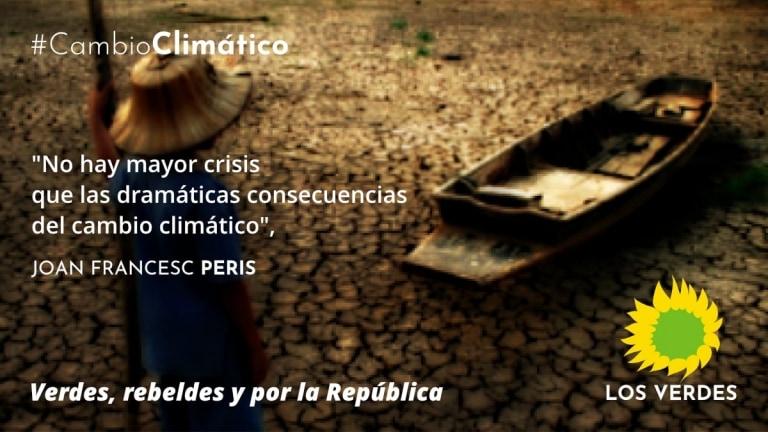 Pido a Iglesias, a Errejón, a los líderes de Podemos en las CCAA, que pongan la lucha contra el cambio climático en el centro del debate de la política española