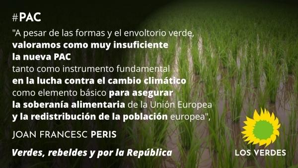 Los Verdes valoran críticamente la nueva PAC por insuficiente en medidas agroambientales y alejada de la soberanía alimentaria