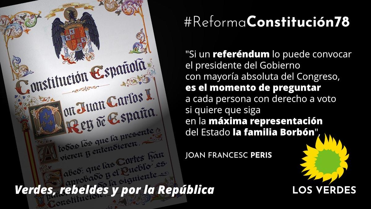 Por un referéndum por la reforma de la Constitución